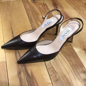 Isaac Brown Leather Heels